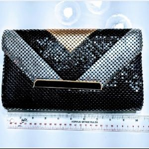 Metal chain dress shoulder or clutch bag, Vintage